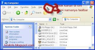 toolbar,windows explorer toolbar
