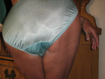 Cutting panties off pantyhose