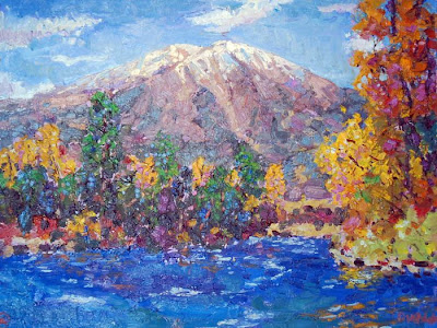 Mt. Sopris Paintings By Majid Kahhak