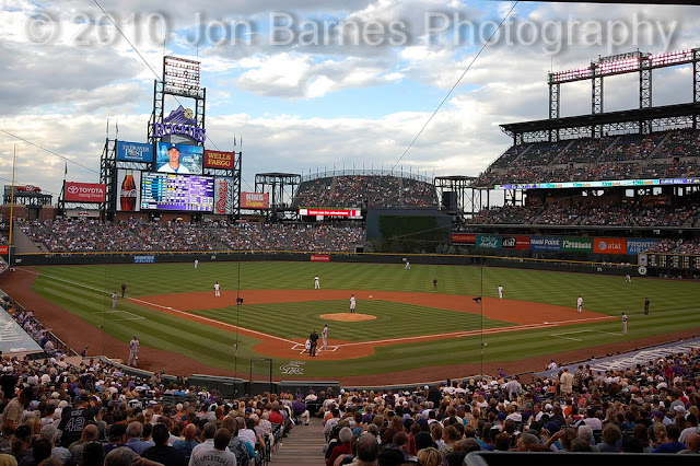 Coors Field Behind Home Plate View