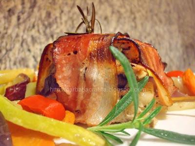 Muschi porc cu legume la cuptor reteta