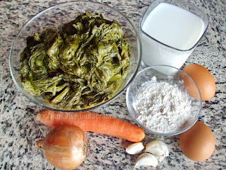 Mancare de spanac cu ou Ingrediente