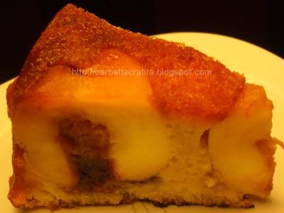 Tort de mere coapte cu zahar ars
