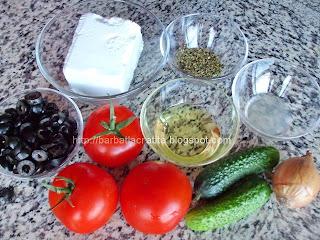 Salata greceasca Ingrediente reteta