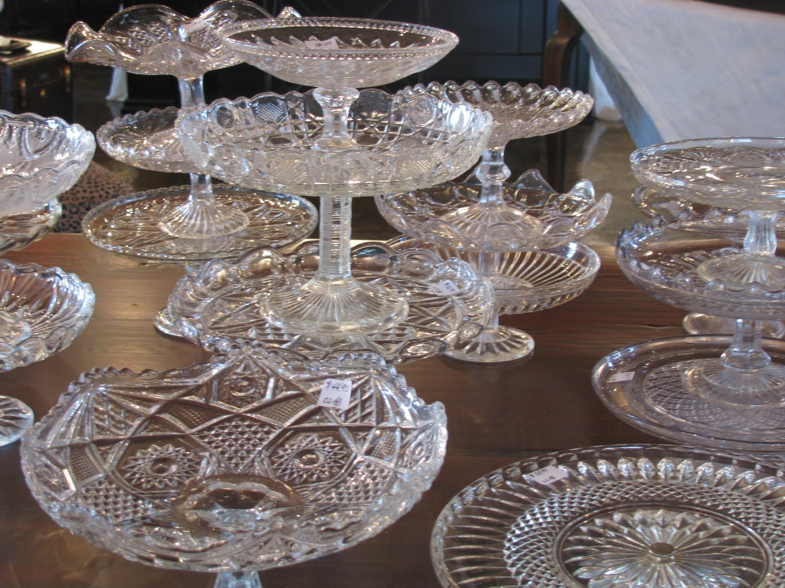 An Assortment of Authentic French Cake Plates