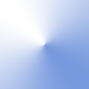 Java2DとJava Image Filtersを使用して描画した円錐グラデーション