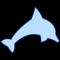 SVGRendererで描画したイルカ