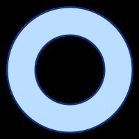 SVGRendererで描画したドーナツ型