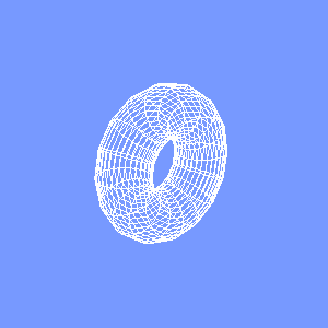 JOGLで描画したワイヤーフレームのドーナツ型