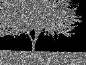 Imagickで影絵スケッチ風に変換した画像