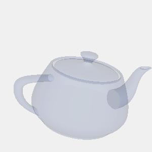 JOGLで描画した半透明のティーポット