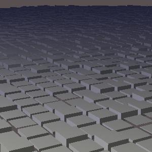 JOGLで描画した凸凹に配置した複数の直方体