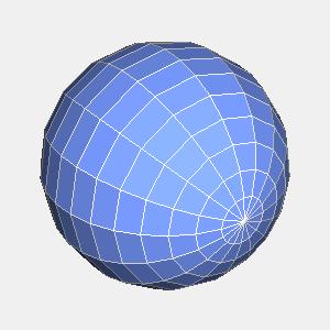 groovyとJOGLで描画したワイヤーフレームとポリゴンの球