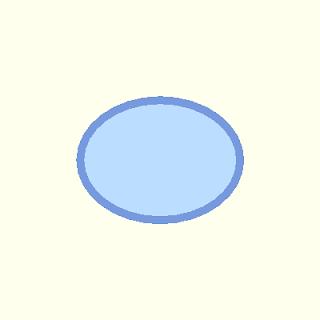 Processingで描画した楕円