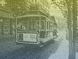 PyWin32とImageMagickでグラデーションのかかった砂地っぽい画像