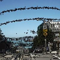 ProcessingとJava Image Filters(pixels)を使用して等高線をつけた画像