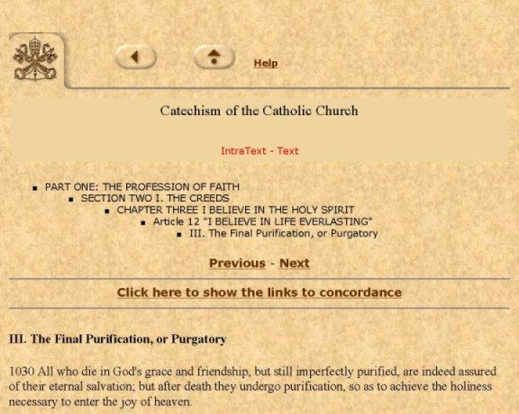 Vatican Catholic Cathecism - Purgatory 1-3