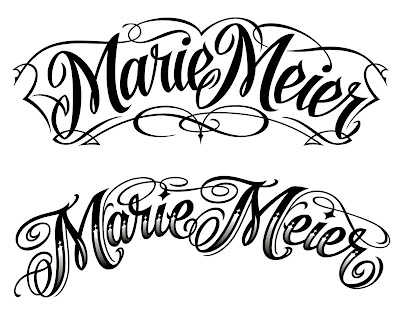 Tatto Lettering on The Art Of Hand Lettering  November 2010
