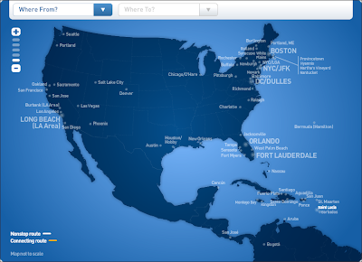 jetbluemap An All You Can Fly Ticket   JetBlues Got A Deal For You