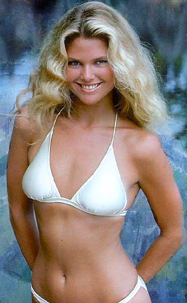 christie brinkley white bikini