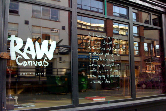 Raw canvas vancouver coupon