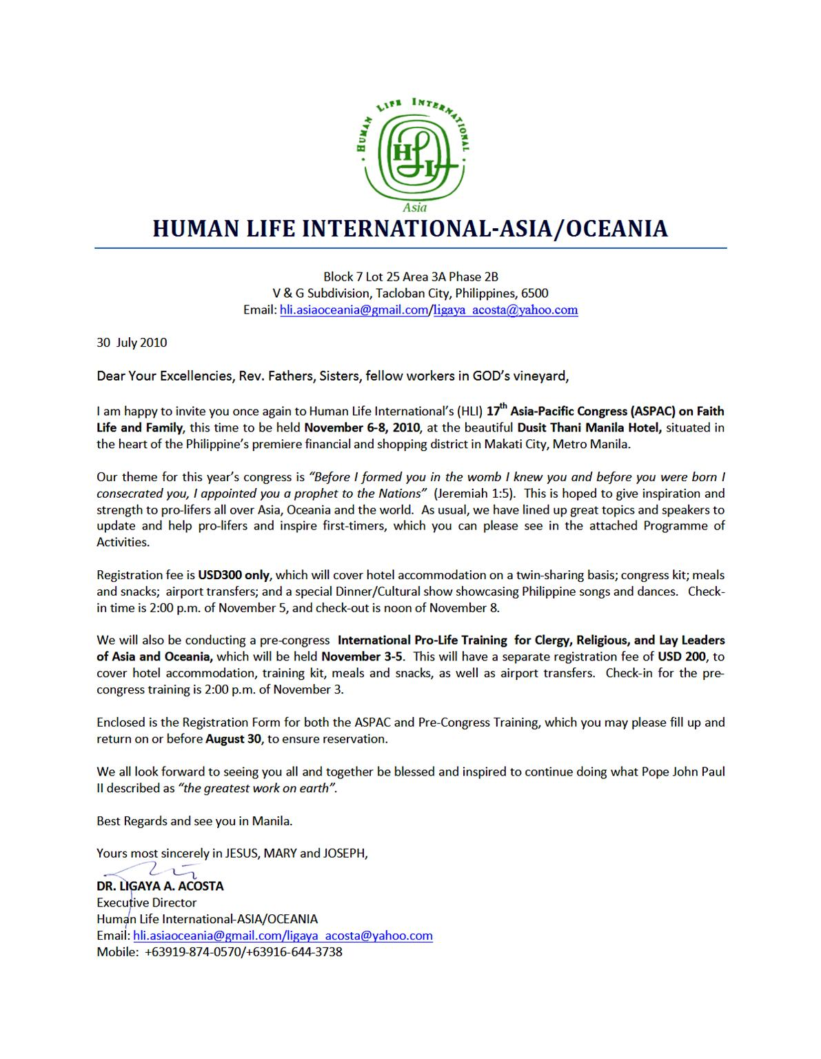 NEWS UPDATE ~ Diocese of Sandakan: HLI's 17th Asia-Pacific ...