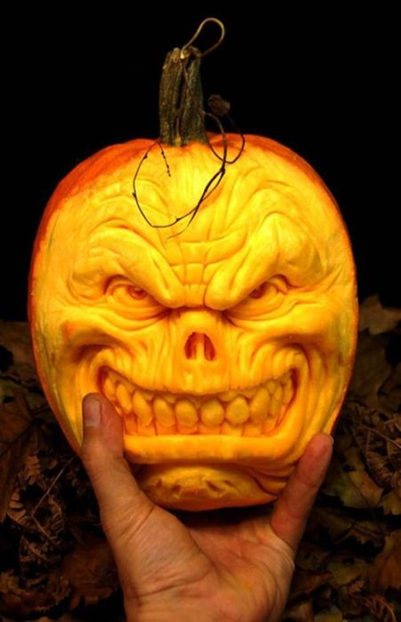 Vital crazy blog amazing carving pumpkins for Awesome pumpkin drawings