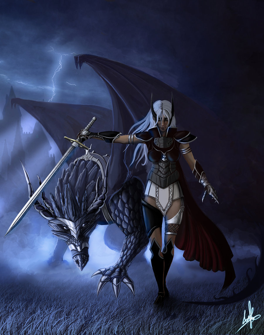 Thought this cool Dragon_rider_by_padisio-d2y3qaz