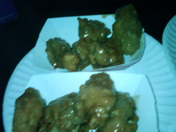 Foodie asshole peanut butter wings at 123 burger shot beer for Canned fish assholes