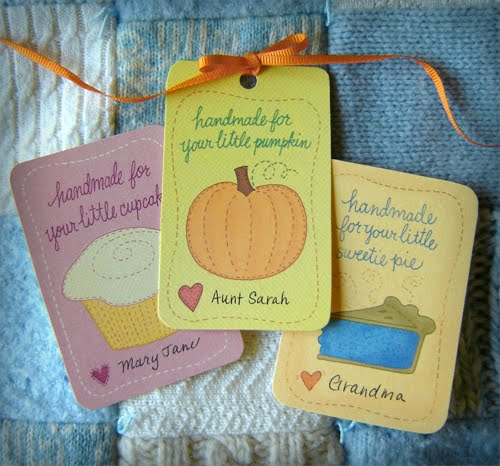 oatmeal and cinnamon sew mama sew baby shower gift tags