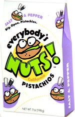 everybody's nuts, low calorie pistachios