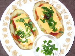 low calorie potato skins