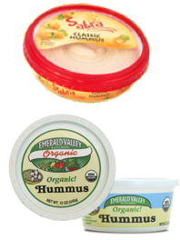 low calorie hummus, sabra and emerald valley