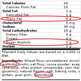 Reading Nutritional Labels: Sugar Alcohols and Trans Fats
