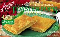 amy's organic apple pie toaster pops