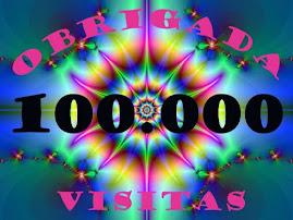 Chegámos a marca de 100.000 visitantes e isso é um privilégio para mim.