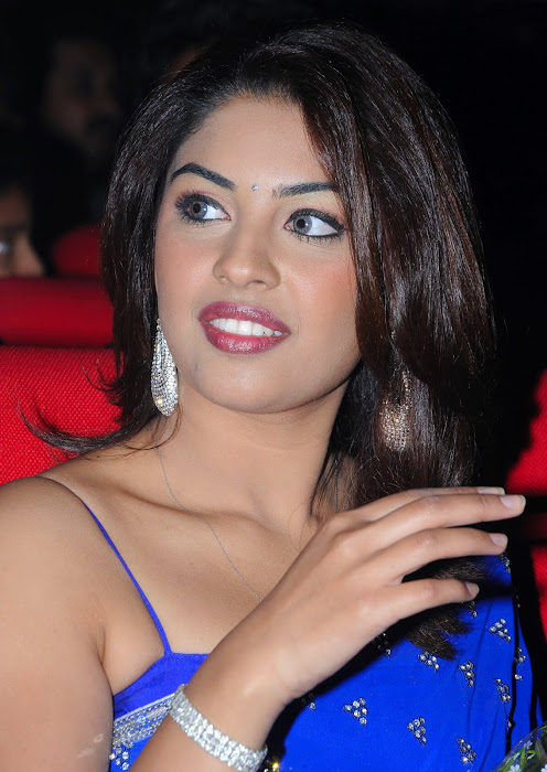 richa gangopadhyay new n spicy in blue saree actress pics