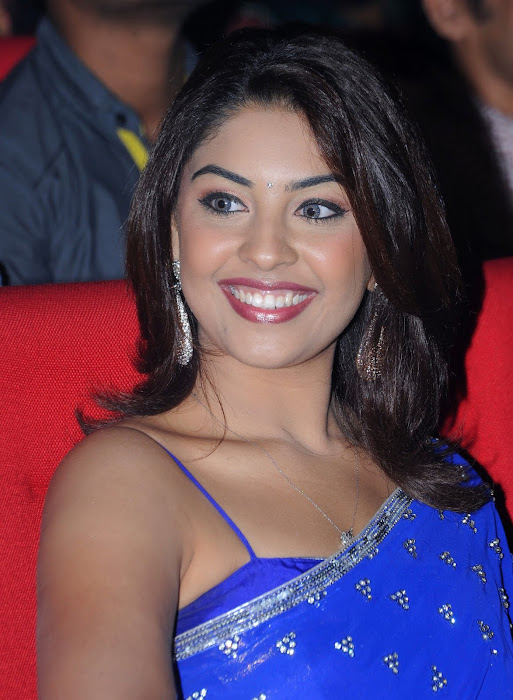 richa gangopadhyay new n spicy in blue saree latest photos