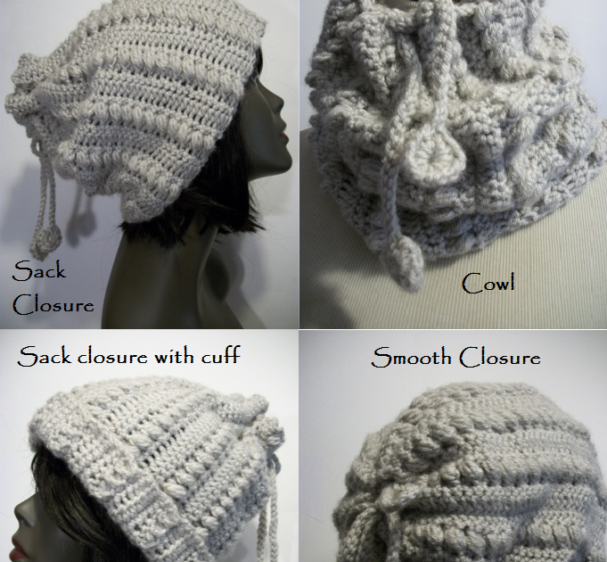 Drawstring Cowl Knitting Pattern : Knots and Loops: Tugharia Drawstring Hat/Cowl Combo