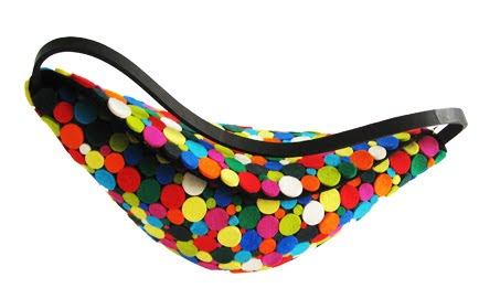pills multicolored handbag