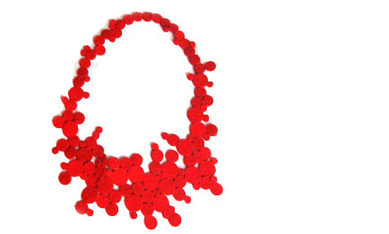 anemona necklace red