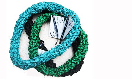 hand woven ribbon necklace
