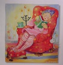 Här sitter jag och läser