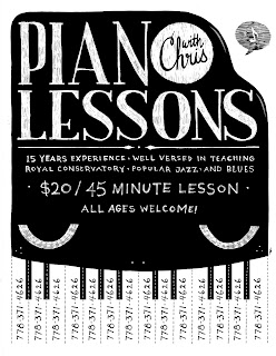 Artwork By Brian Tong Piano Lessons Poster