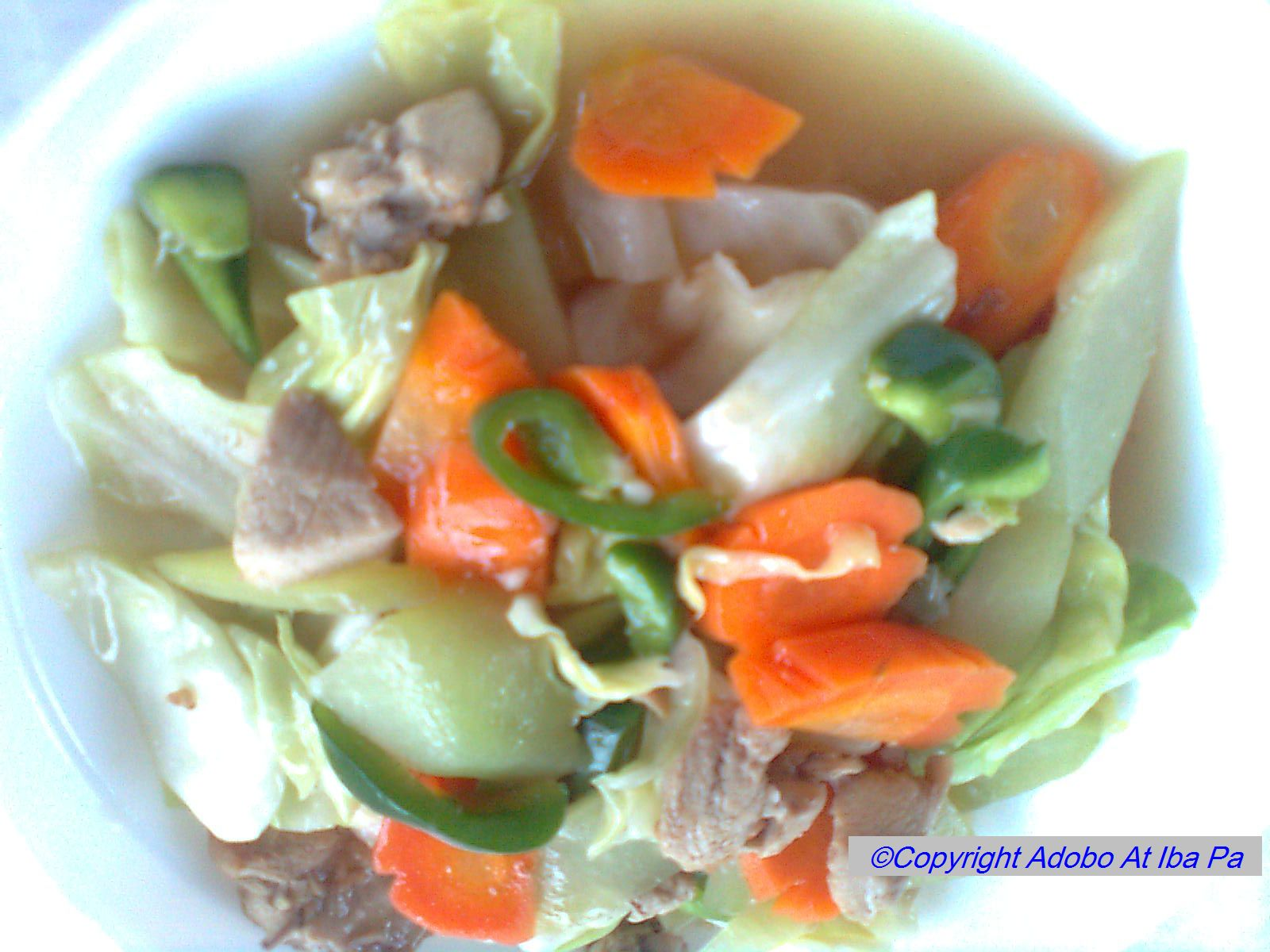 how to cook chopsuey pinoy