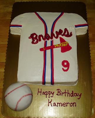 Atlanta Braves Baseball Jersey Cake