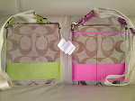 SIGNATURE PINK OR GREEN STRIPE SWINGPACK 42619