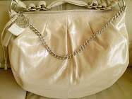 COACH ALI METALLIC LARGE LEATHER HOBO