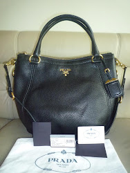 PRADA VITELLO DAINO LEATHER BAG