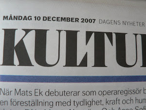Dagens nyheter, Kultur 10 december 2007